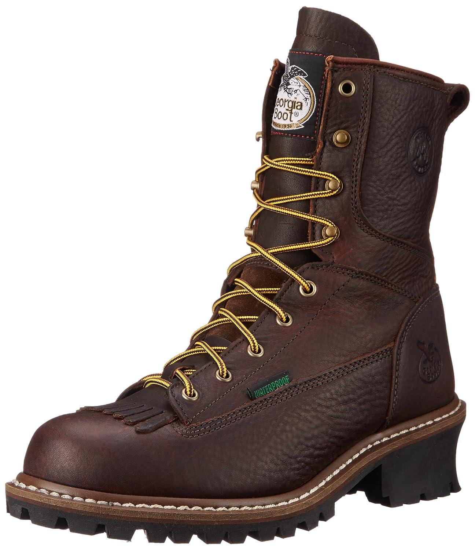 "Amazon.com | Georgia Boot Men's Georgia 8"" Logger Boot Work Shoe |  Industrial & Construction Boots"