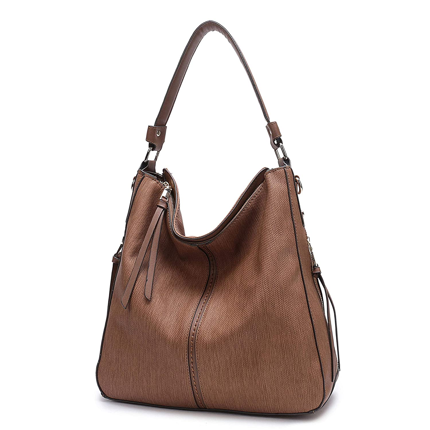 Amazon.com  BIG SALE- Hobo Handbags, PU Leather Purses Tote Cross Body Shoulder  Bags Bucket Bag for Women Office (Brown-1)  Clothing e5d0f3e672