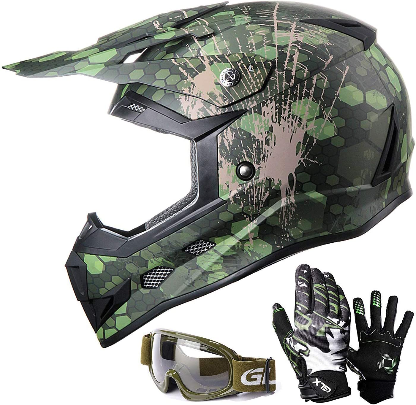 GLX Youth Motocross Helmet