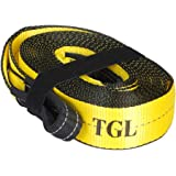 TGL 3 inch, 20 Foot Tow Strap, 30,000 Pound Capacity with Reusable Storage Strap