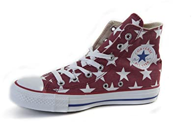 Converse CT All Star 136615C Hi Jester Red/White Trainers for Women