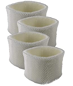 Air Filter Factory 4 Pack Compatible Humidifier Wick Filters for Sunbeam SCM3501, SCM3502, SCM3609, SCM3656, SCM3657
