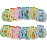 MY BABY MULTI-COLOR MITTENS (PACK OF 12 PAIRS) (Design & Color May Vary)