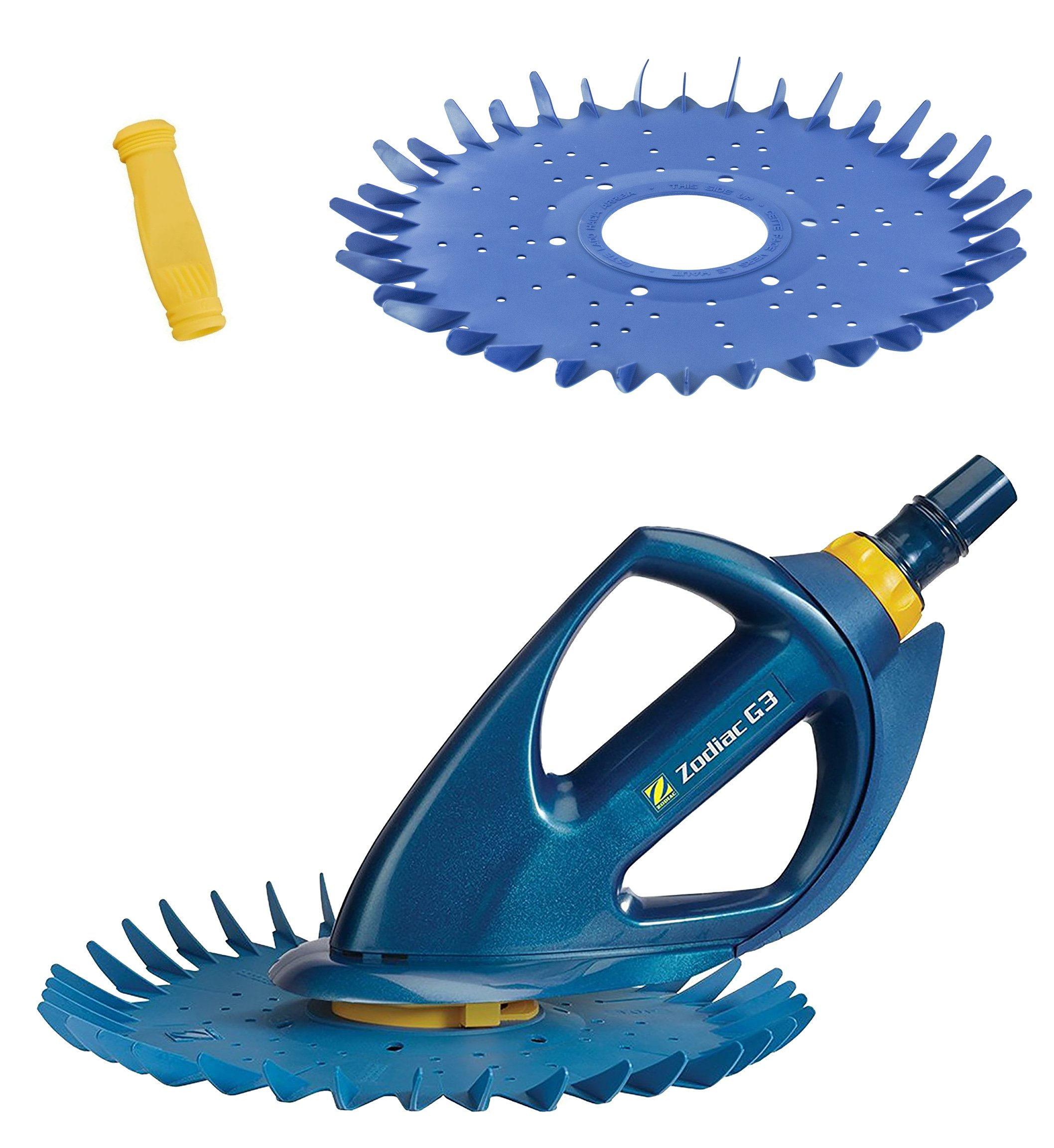 Zodiac BARACUDA G3 W03000 Advanced Suction Side Automatic Pool Cleaner with Additional Diaphragm and Finned Disc by Zodiac