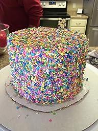 Amazon.com: Edible Confetti Sprinkles Cake Cookie Cupcake ...