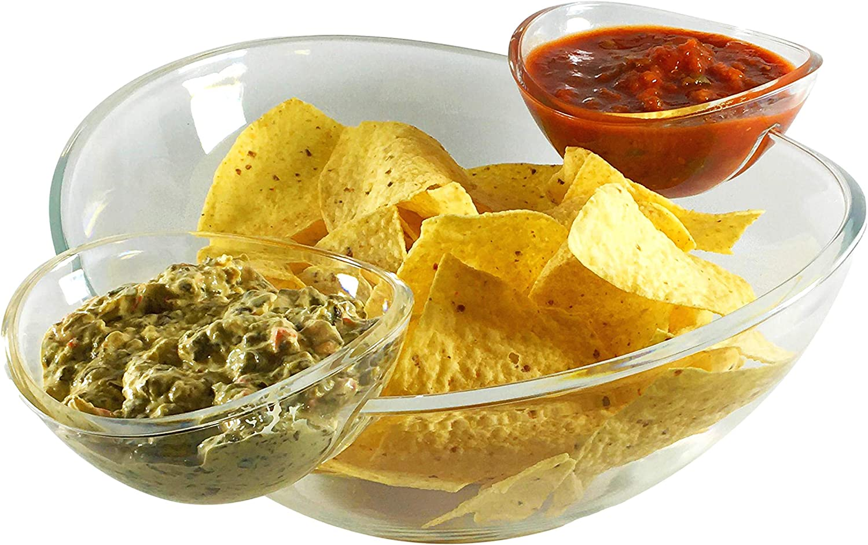 Large Chip and Dip Bowl 3pc Set - Large 11