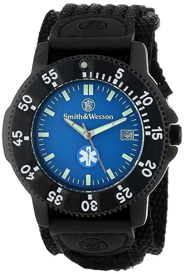8fc54bf89d Smith & Wesson Men's SWW-455-EMT EMT Black Nylon Strap Watch: Amazon.ca:  Watches