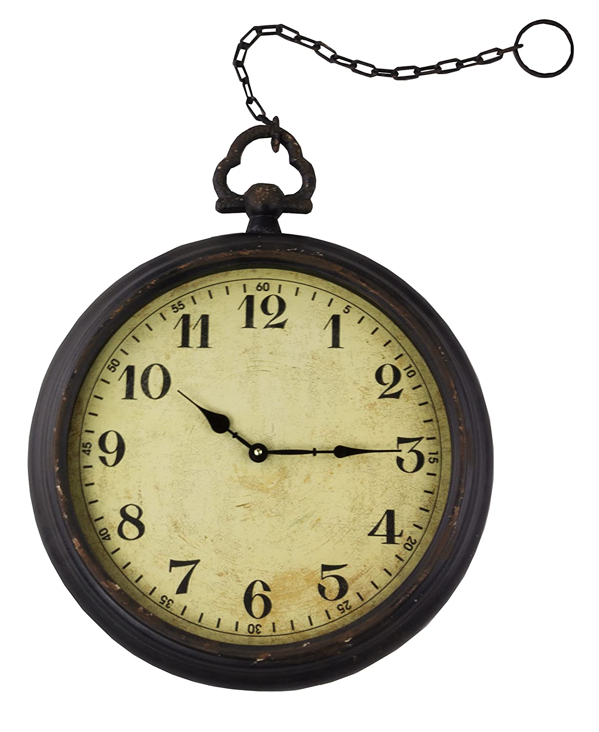 Amazon.com: Vintage Pocket Watch Inspired Wall Clock With Chain ...