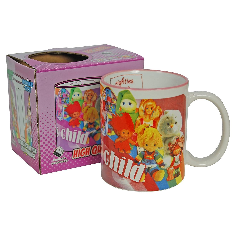Los años 80 Niño en caja de regalo taza 80s Trollz Sylvanian ...