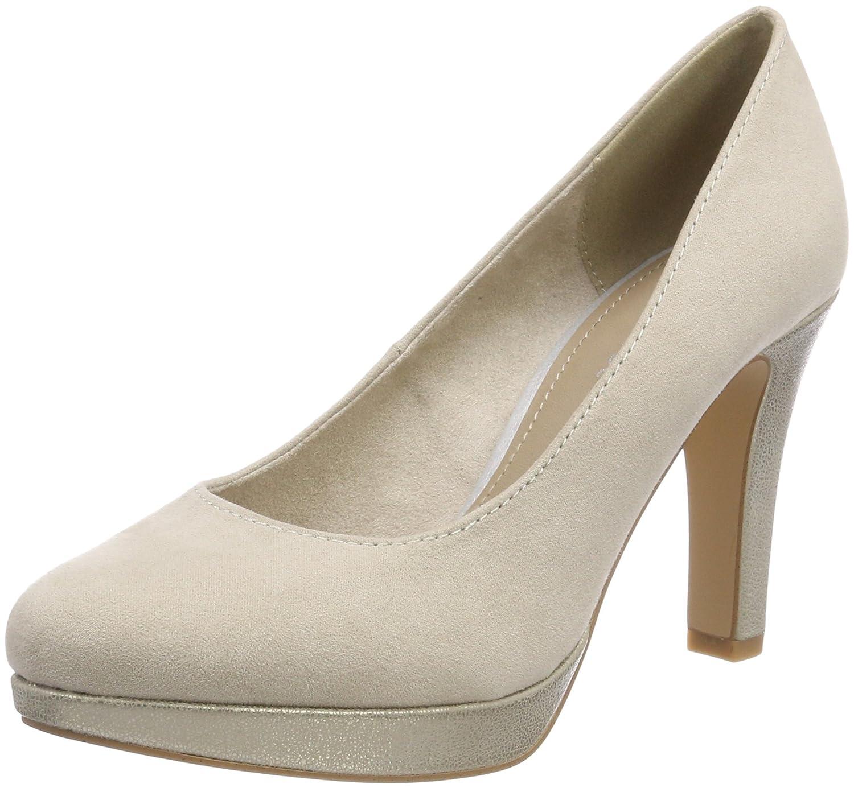 s.Oliver 22400, Zapatos de Tacón para Mujer 37 EU Beige (Ivory Comb.)
