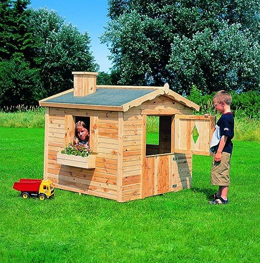 Casa de los niños bandada de cornejas casa jardín completamente-maqueta: Amazon.es: Juguetes y juegos