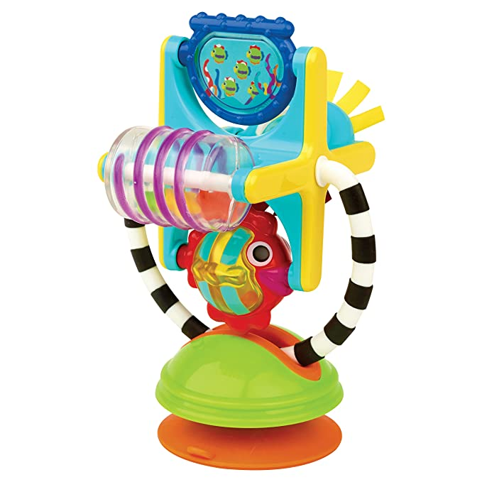 Sassy Fishy Fascination Station – 6+ Months 2-in-1 Toy Suction Cup Removable Base For High Chair Or Floor Play So Baby Can Explore The Many Features Of This Station $8.99
