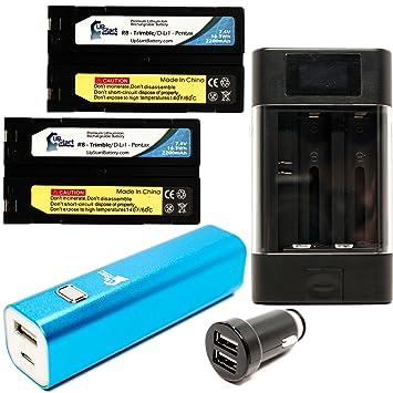 Amazon.com: 2-pack Trimble R8 GNSS batería con cargador ...