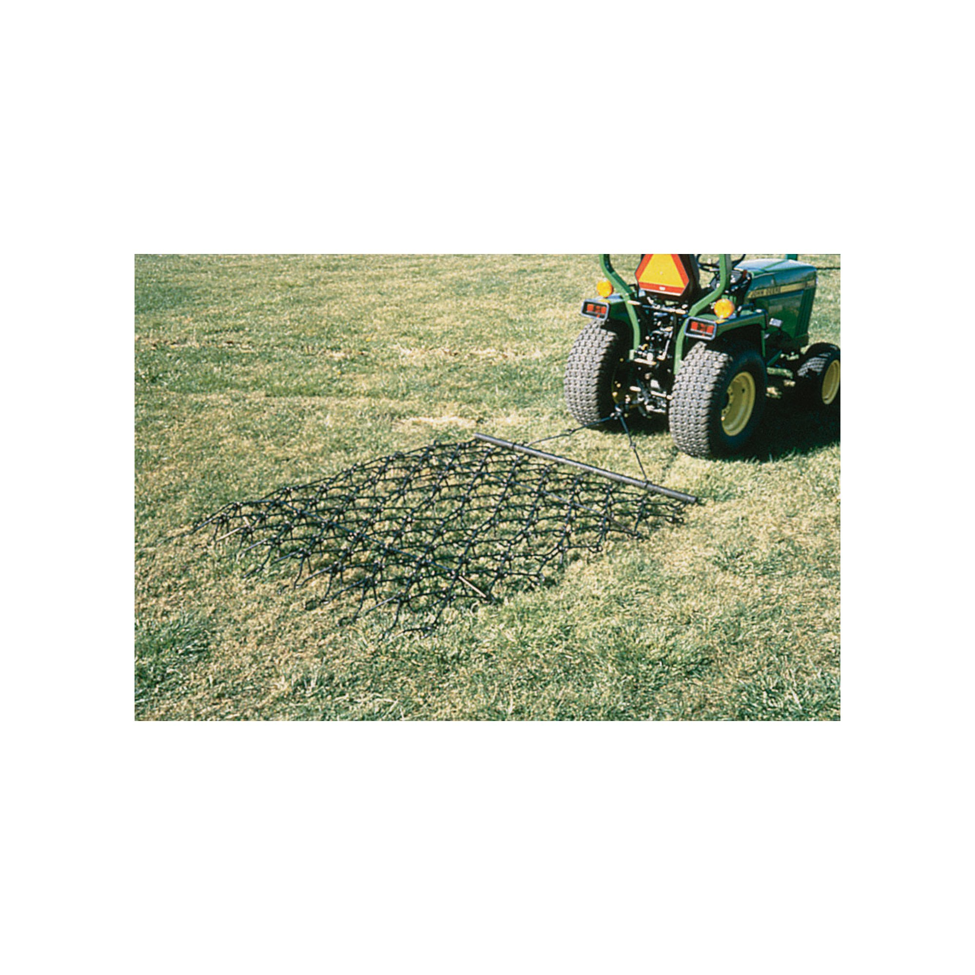 NorTrac Harrow Rake for Cleaning, Leveling Soil and Stimulating Growth - 8ft.W x 3 1/2ft.L