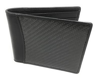 Namotu Real Carbon Fiber Wallet w/RFID Blocking Tech, Leather at Hinges and  Trim - ID Window - Mens Slim Thin Real Carbon Bifold to Protect Your Money
