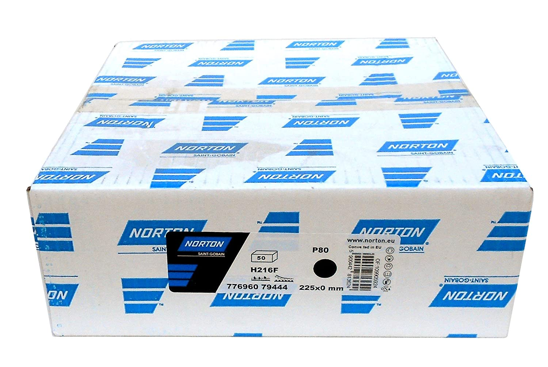 Norton h216/F lija 25/unidades, grano: A Elegir, 25 sin perforar Di/ámetro de 225/mm