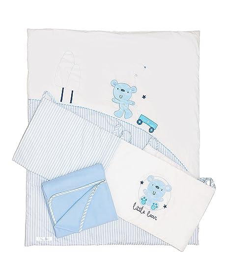 Baby Elegance Scribbles cama en una caja (azul): Amazon.es: Bebé