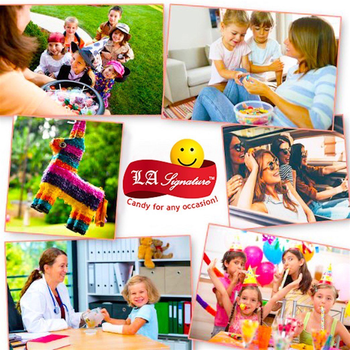LA Signature Assorted Classic Candy - Huge PARTY MIX Bulk BOX! 11.25 lbs / 180 oz Classic Candies Like Hi-Chew Starburst Haribo Skittles Swedish Fish SweeTarts Sour Patch Tootsie over 430 pieces by LA Signature (Image #5)