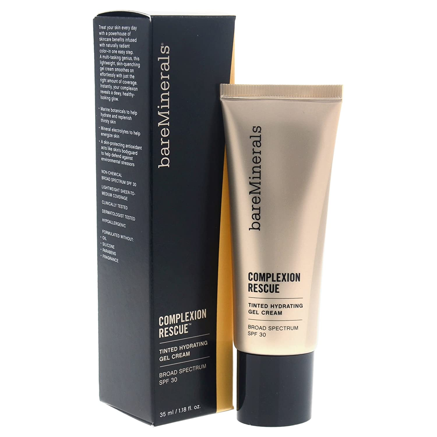 Bareminerals Complexion Rescue Tinted Hydrating Gel Cream SPF 30, Buttercream, 1.18 Ounce 098132399963
