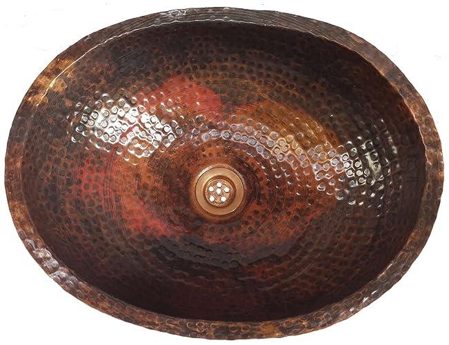 Amazon.com: Egypt gift shops Oval Lacqured Copper Bath Kitchen Sink ...