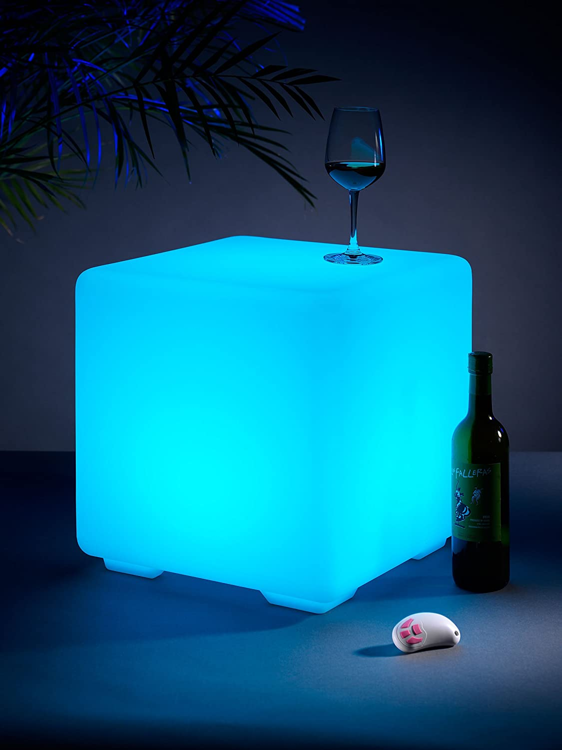 Auraglow light up led colour changing outdoor mood cube garden auraglow light up led colour changing outdoor mood cube garden furniture stool amazon lighting aloadofball Images