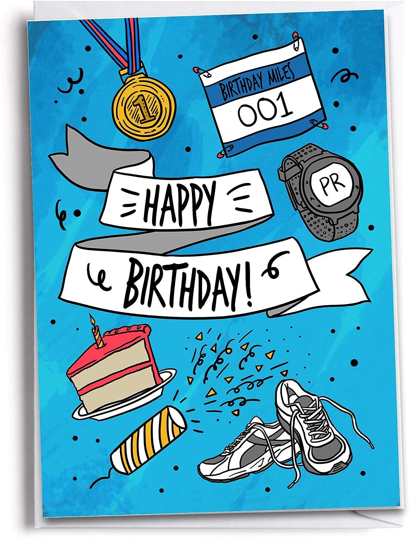 Card For Runner Woman Runner Card Runner Motivational Card Running Friend Birthday Card Watercolor Card Running Friend Card