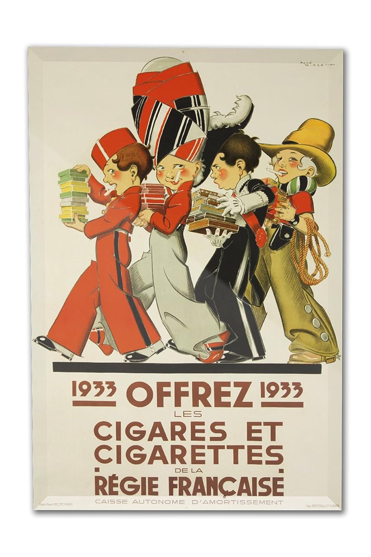 Offrez – Cigares et Cigarettes – Regie Francaiseヴィンテージポスター(アーティスト: Vincent )フランスC。1932 8 x 12 Acrylic Photo Block Decor LANT-3P-AC-PB-61574-8x12 8 x 12 Acrylic Photo Block Decor  B01N09LYL3