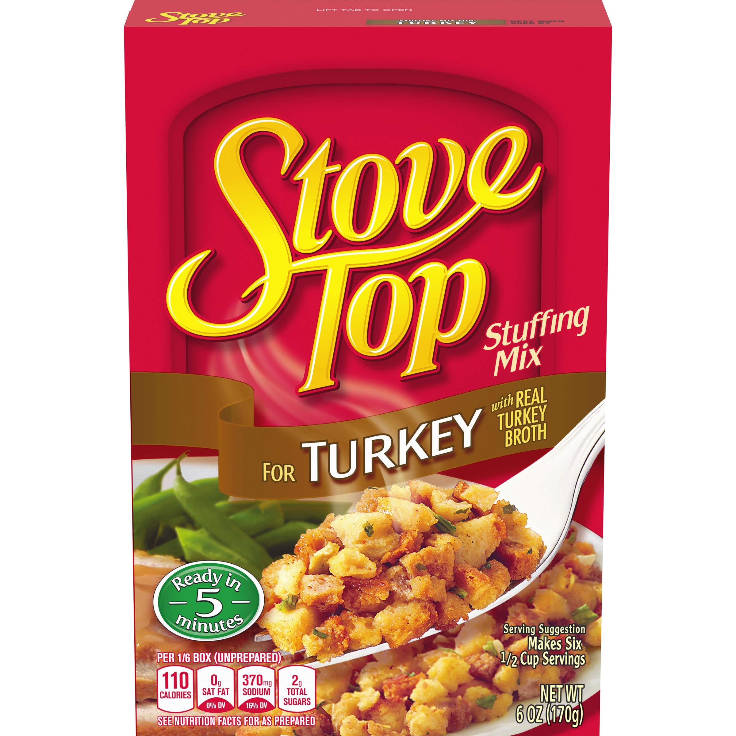 Stove Top Stuffing Mix, Turkey, 6 oz