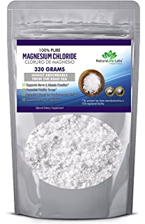 Magnesium Chloride Food Grade Edible Cloruro de Magnesio 330 grams 100% Pure Higly Absorbable from