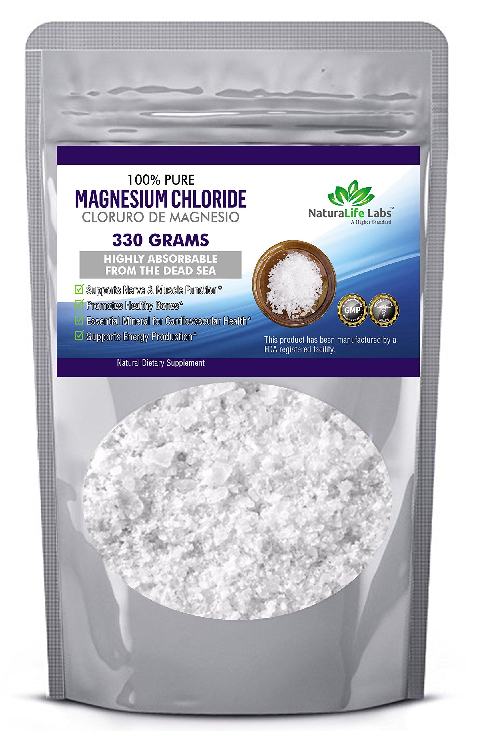Magnesium Chloride Food Grade Edible Cloruro de Magnesio 330 grams 100% Pure Higly Absorbable from