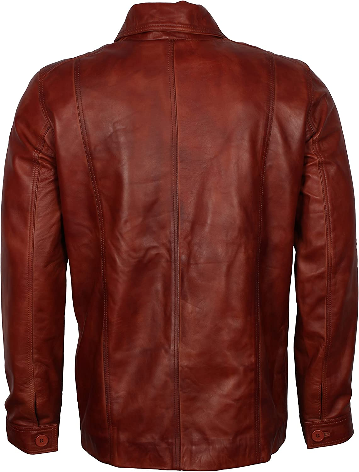 LeatherArtistics Ultimate Collection Antique Biker Jacket In Real Brown Waxed Leather Men