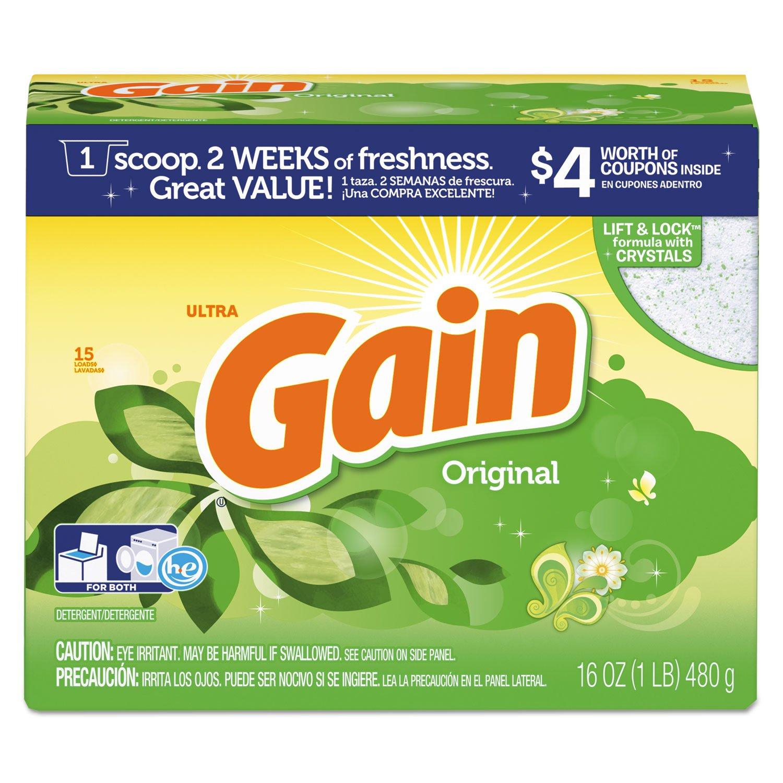 Gain PGC 27831 Original Scent Powder Laundry Detergent, 16 oz.