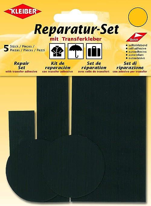 Kleiber - Juego de Parches de reparación para Ropa, de Nailon, autoadhesivos, 5 Piezas, Color Negro: Amazon.es: Hogar