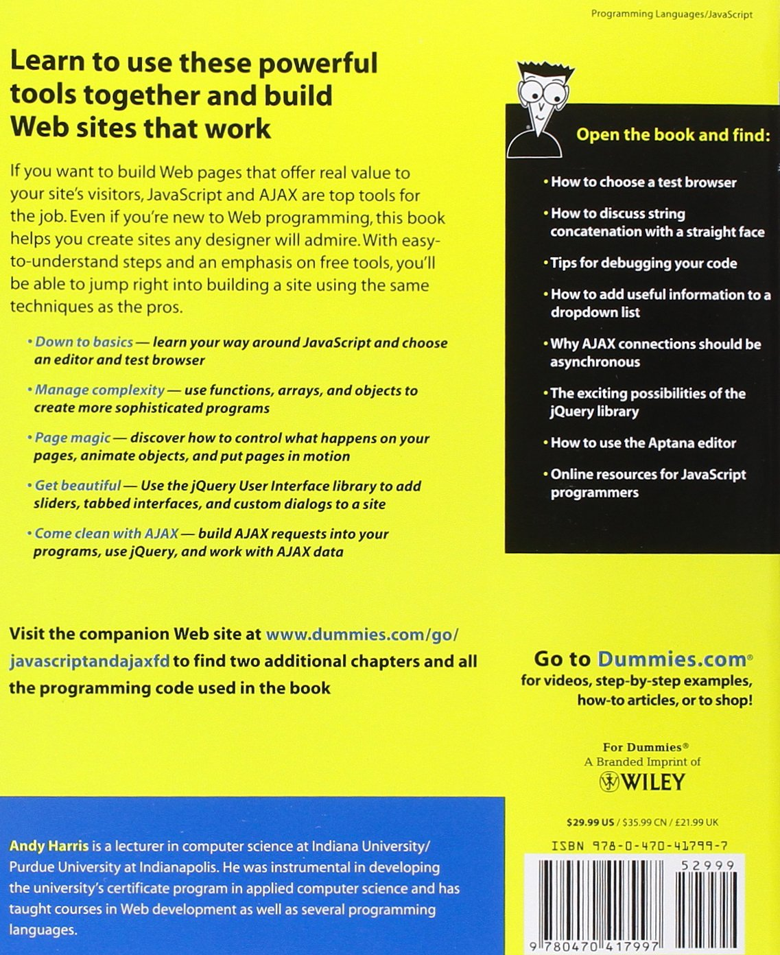 Javascript and ajax for dummies andy harris 9780470417997 javascript and ajax for dummies andy harris 9780470417997 amazon books xflitez Images