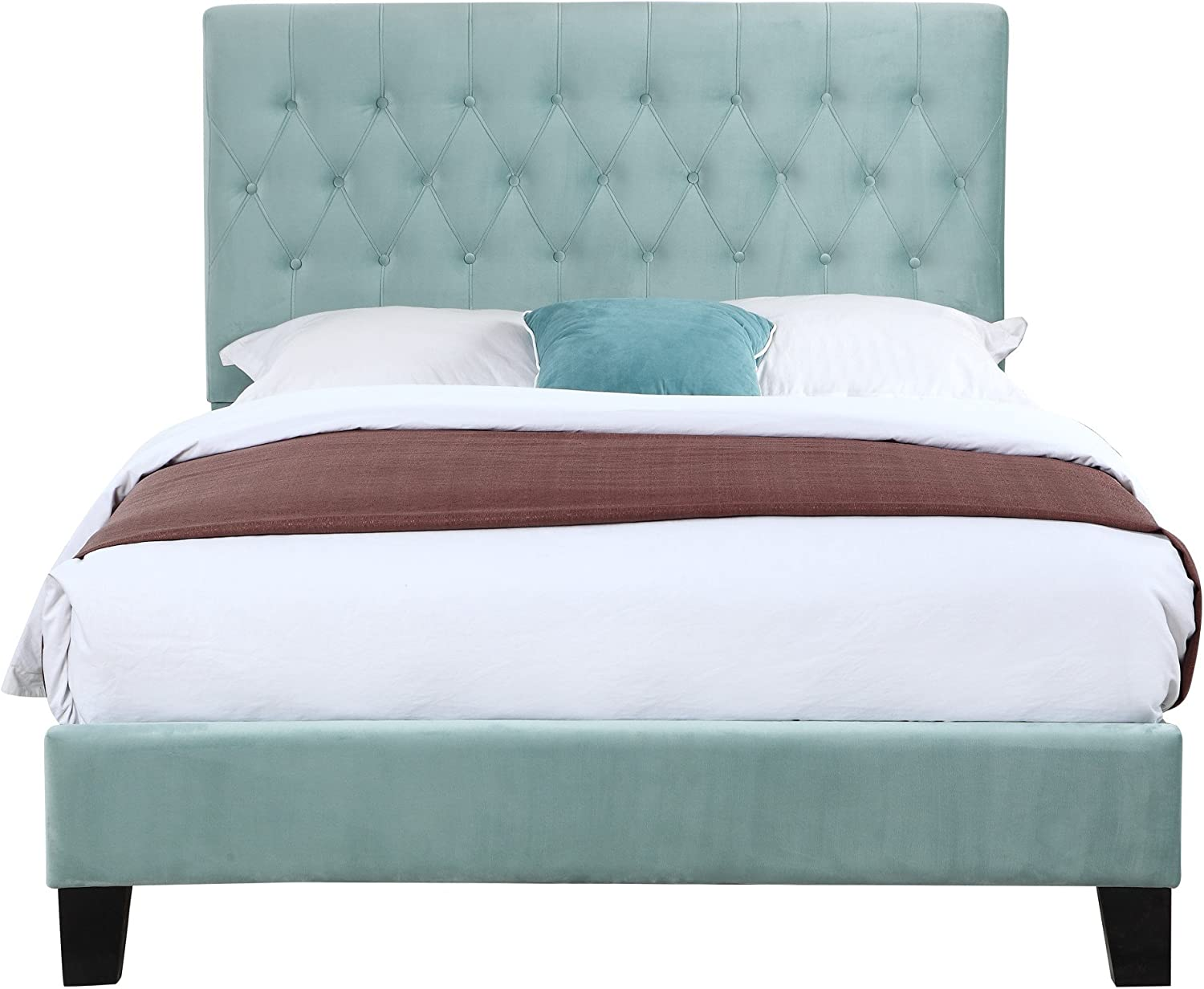 Artum Hill Upholstered Bed With Tufted, Padded Headboard, And Platform-Style Base