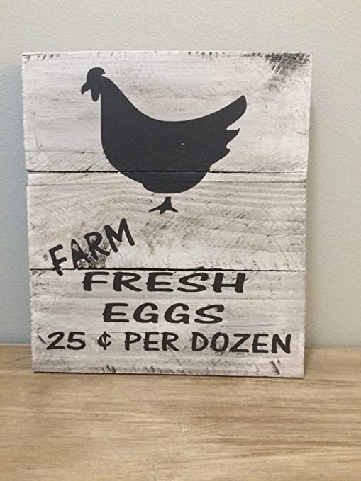 Kitchen rustic farmhouse wood sign primitive home decor country chicken gift