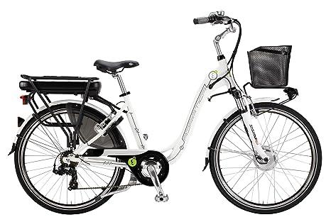 Bicicletta Elettrica A Pedalata Assistita Da Donna 28 H45 250w Cicli Adriatica E Bike E1 Lady Bianco