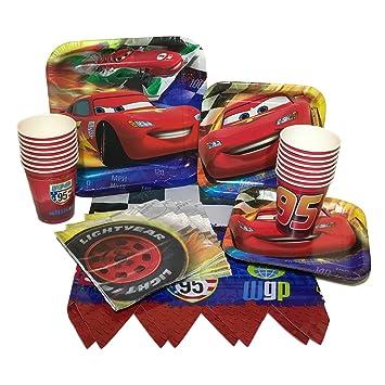 Amazon Disney Cars Birthday Party Bundle With Plates Napkins