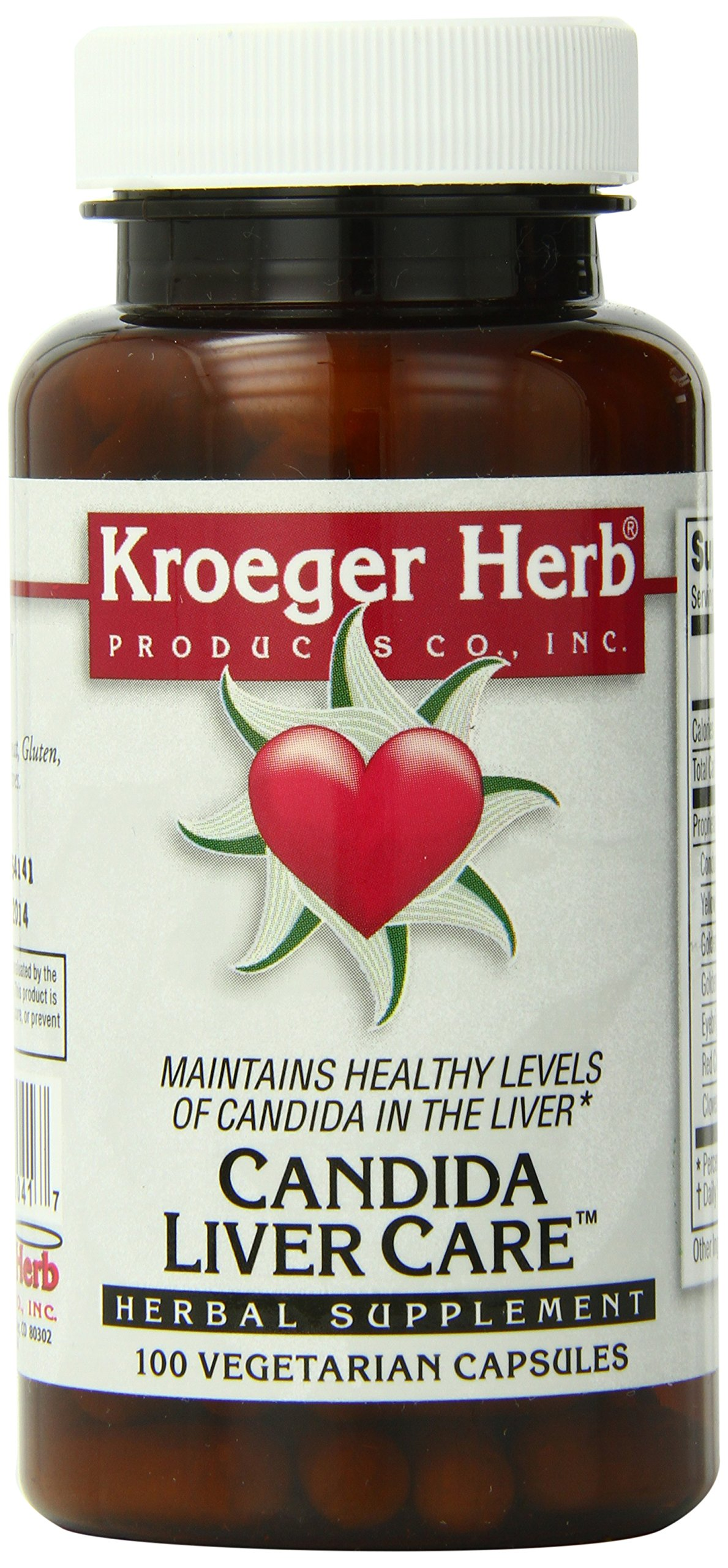 Kroeger Herb Candida Liver Care Vegetarian Capsules, 100 Count by Kroeger Herb Products