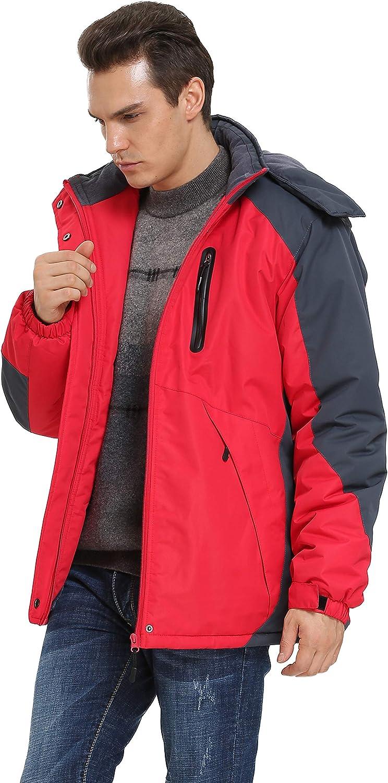 iLoveSIA Mens Waterproof Mountain Jacket Fleece Windproof Outdoor Coat