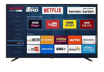 Sharp LC-40UI7352K 4K Ultra HD Smart 40-inch TV with Freeview HD (2018  model), Black