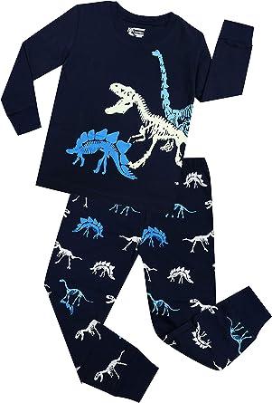 Qzrnly Toddler Pajamas Boy Short Pjs Sets Dinosaur Cotton Kids Sleepwear