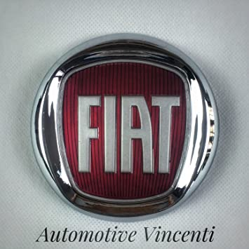 Logotipo escudo/friso rojo, Fiat 500 Bravo, grande, idea trasera: Amazon.es: Coche y moto