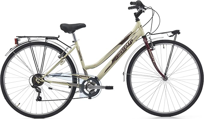 Bicicleta Country Mujer ciclos Cinzia, Crema/Amaranto: Amazon.es ...