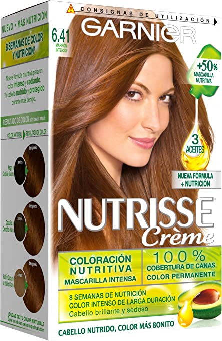 Garnier Nutrisse Coloración, Tono: 6.41 Marron Intenso -1 Unidad
