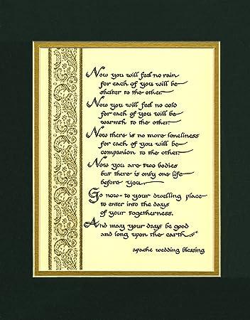 Amazon.com : Apache Wedding Blessing Wedding Gift Wall Decor ...