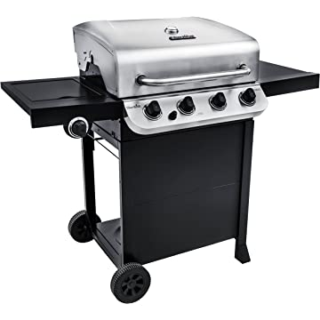 powerful Char-Broil Performance 475 4-Burner Cart Liquid Propane Gas Grill- Stainless