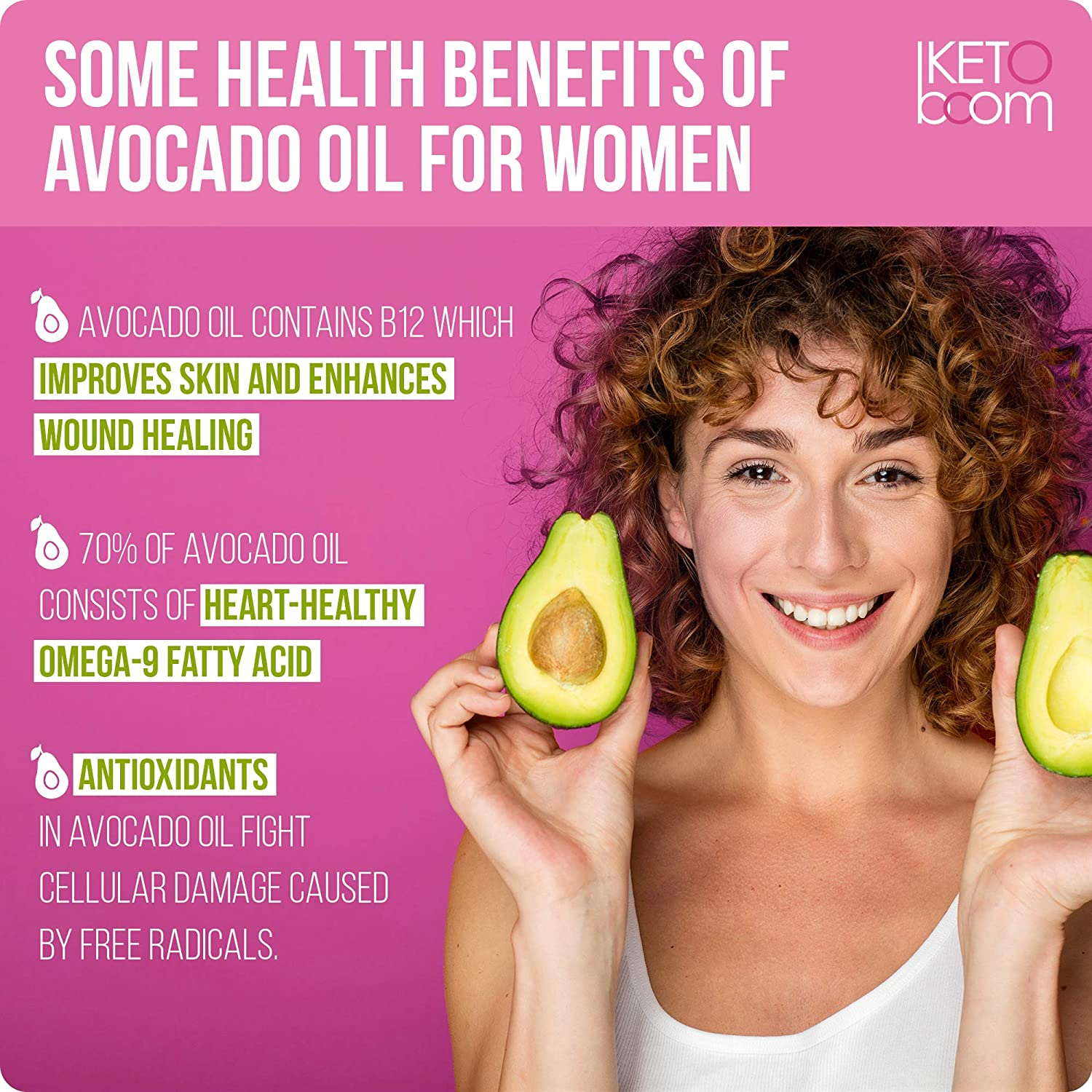 Keto For Women  Organic MCT Oil + Hemp + Avocado  Triple Filtered and Cold  Pressed C8 + C10 MCT