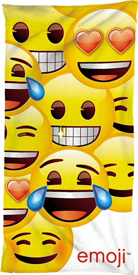 "Serviette de bain Emoji ""Original Neuf/emballage d'origine Motif ..."