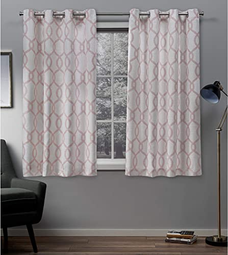 Exclusive Home Curtains Kochi Linen Blend Grommet Top Curtain Panel Pair